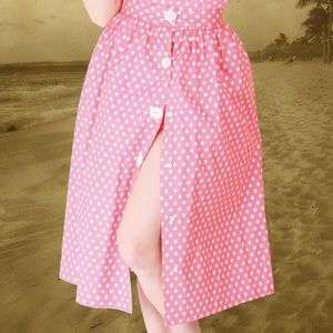Bettie page pink daisy swing skirt 0774